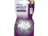 Philips Avent Natural SCF651 - Tetina de flujo para recién nacidos paquete de 2